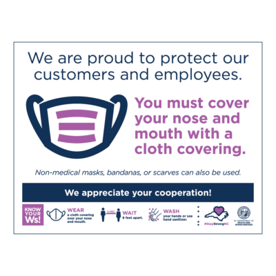 Face Covering Poster English 24x18 01