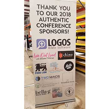 33.5 X 80.5 Retractable Banner Stand