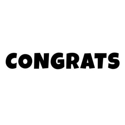 Congrats-Black