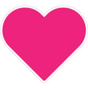 12 Inch Ruby Pink Heart Yard Sign
