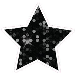 12 Inch Star Black Sequins Yard Sign