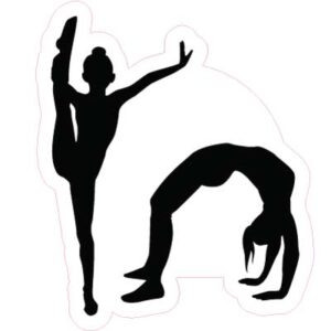 18 Inch Gymnastics Two Person Pose