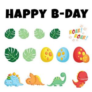 Happy B-Day Dinosaur Theme Yard Sign Bundle