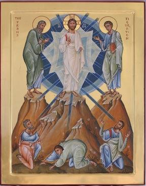 Transfiguration icon by Aidan Hart