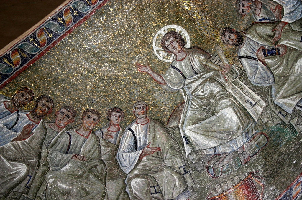 4th century mosaic of the Tradition Legis from Milan