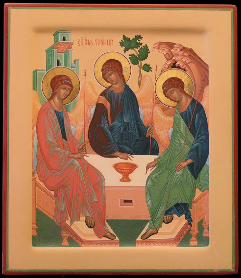"""The Hospitality of Abraham / """"Old Testament Trinity"""" by Fr. Silouan"""