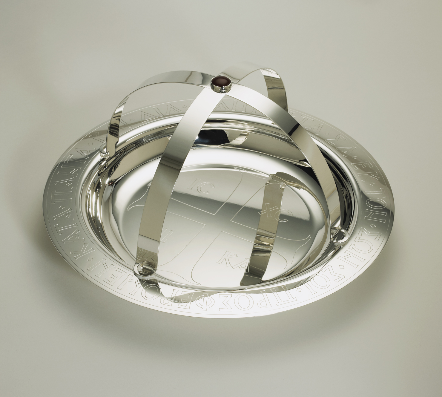 Diskos and Asterisk designed by Andrew Gould and crafted by Liza Nechamkin Glasser
