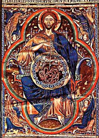 13 ENLUMINURE BIBLE DE FERDINAND3 CHRIST ARCHITECT