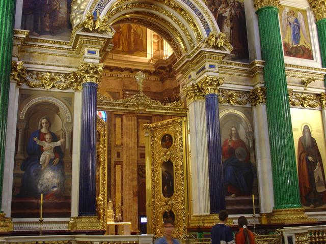 St. Issac Cathedral, St. Petersburg, Iconostasis with gemstone columns