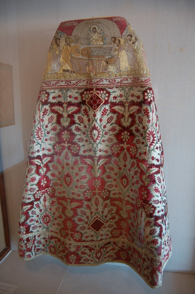 Russian Phelonion, 17th century, Ottoman fabric