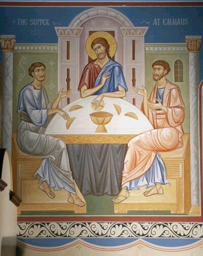 """He took bread, blessed and broke it, and gave it to them, then their eyes were opened..."""")"""