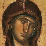 """Mother of God,  Greek.  This leans  towards the gracefulness of classical """"naturalism."""""""