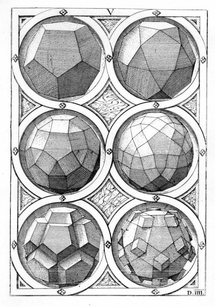 Platonic Solids, by Wentzel Jamnitzer (1508-1585)