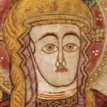 Mother of God, Book of Kells, 9th Century. Severe abstract style.