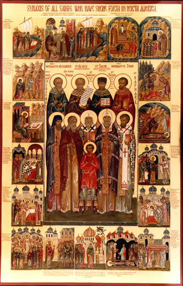 Synaxis Of All Saints Who Have Shone Forth In North America
