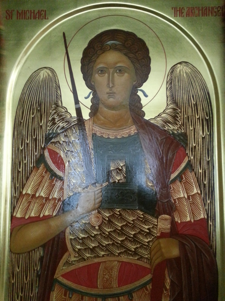 Holy St. Michael the Archangel by Anna Gouriev (egg-tempera) from the prototype of Andreas Ritzos