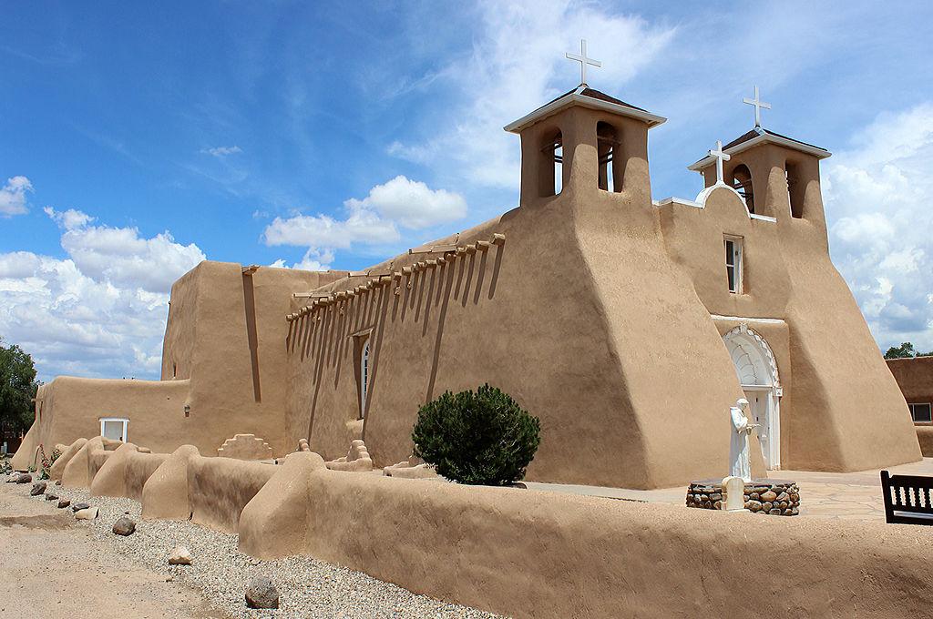 San Francisco de Asis Mission Church, begun in 1772, Ranchos de Taos, NM.