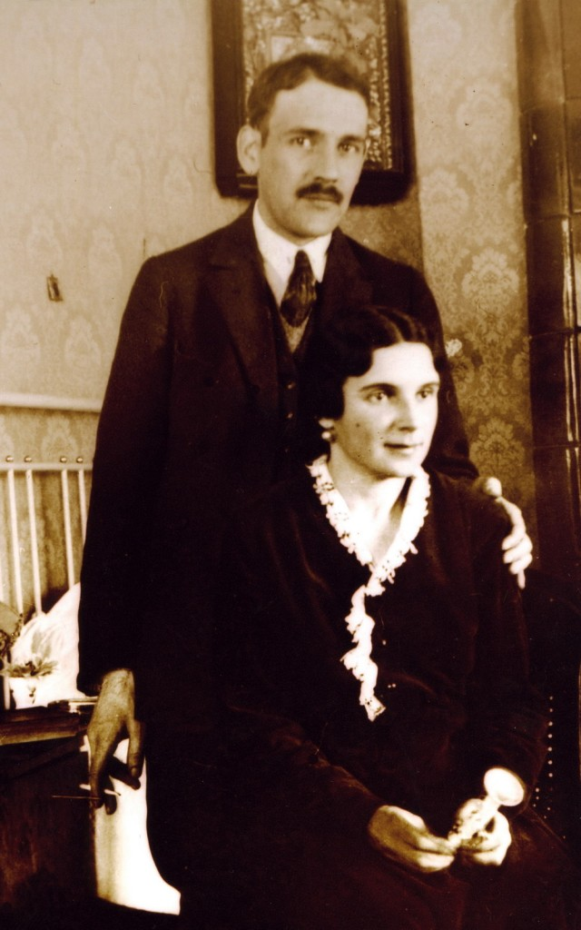 Photo of the Patriarch's parents which were to resemble the icons on the panagia.