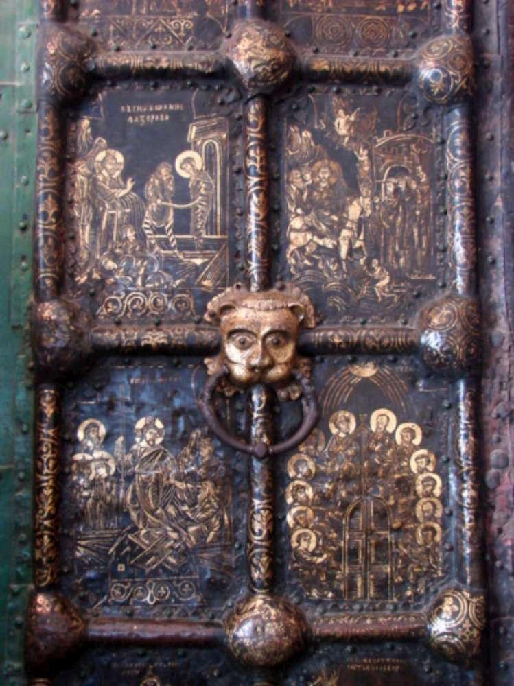 The medieval gilt copper doors at Suzdal Cathedral, thirteenth century