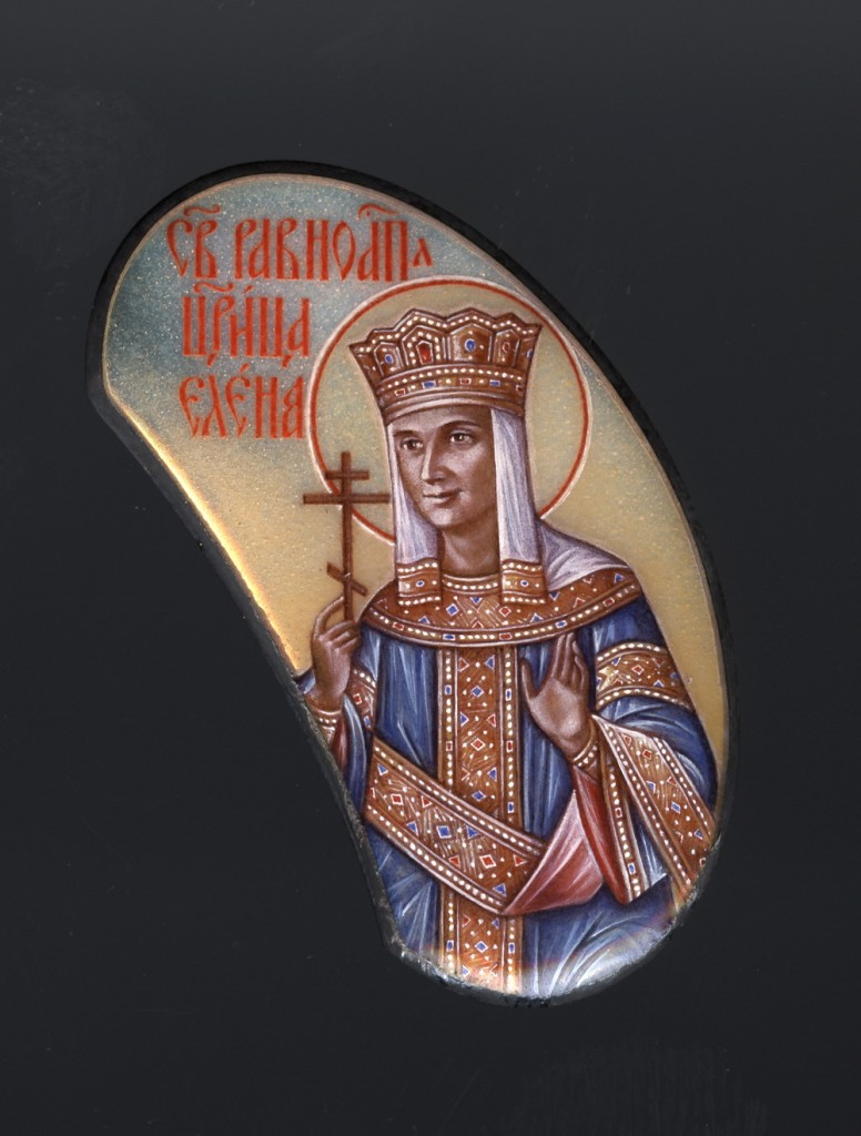 Icon of St-Helen meant to resemble Patriarch Alexi II's mother