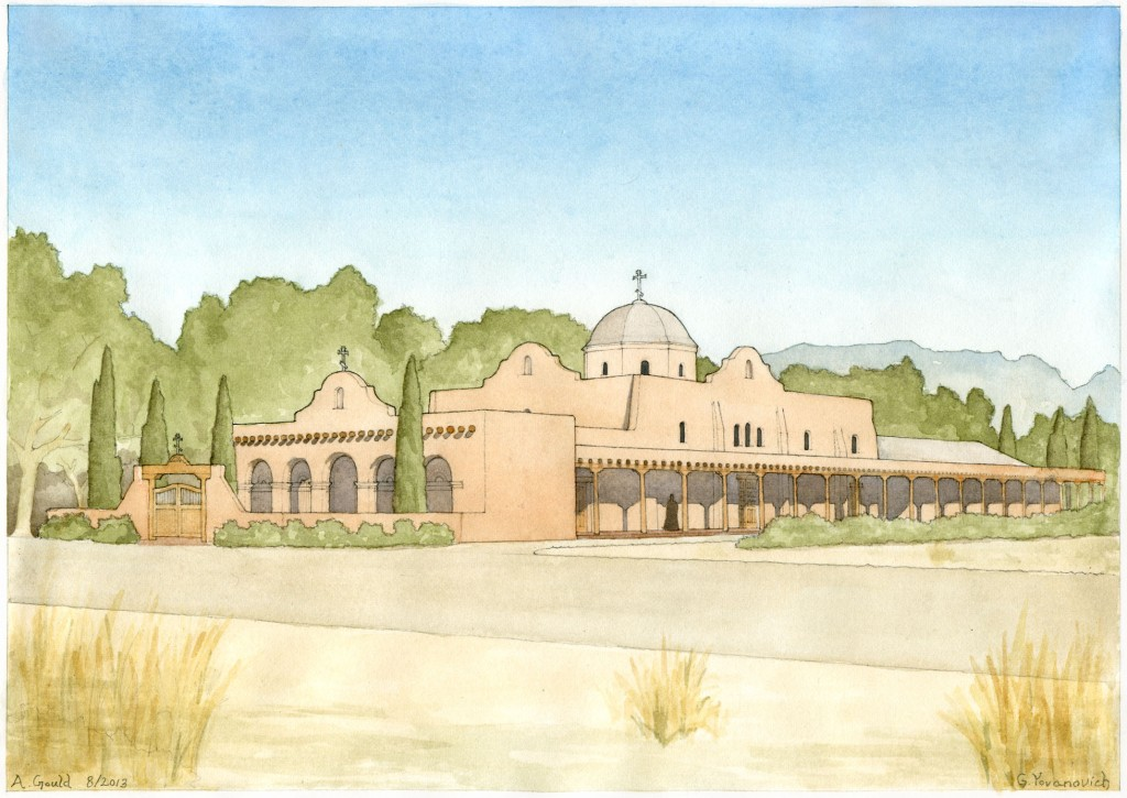Proposed design for Al Saints of North America Orthodox Church, Albuquerque, NM. Designed by Andrew Gould of New World Byzantine