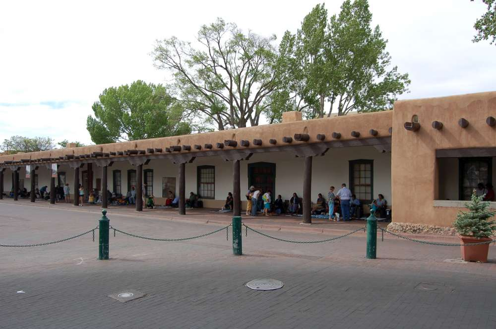 The original Palace of the Governors in downtown Santa Fe. Built in 1610.