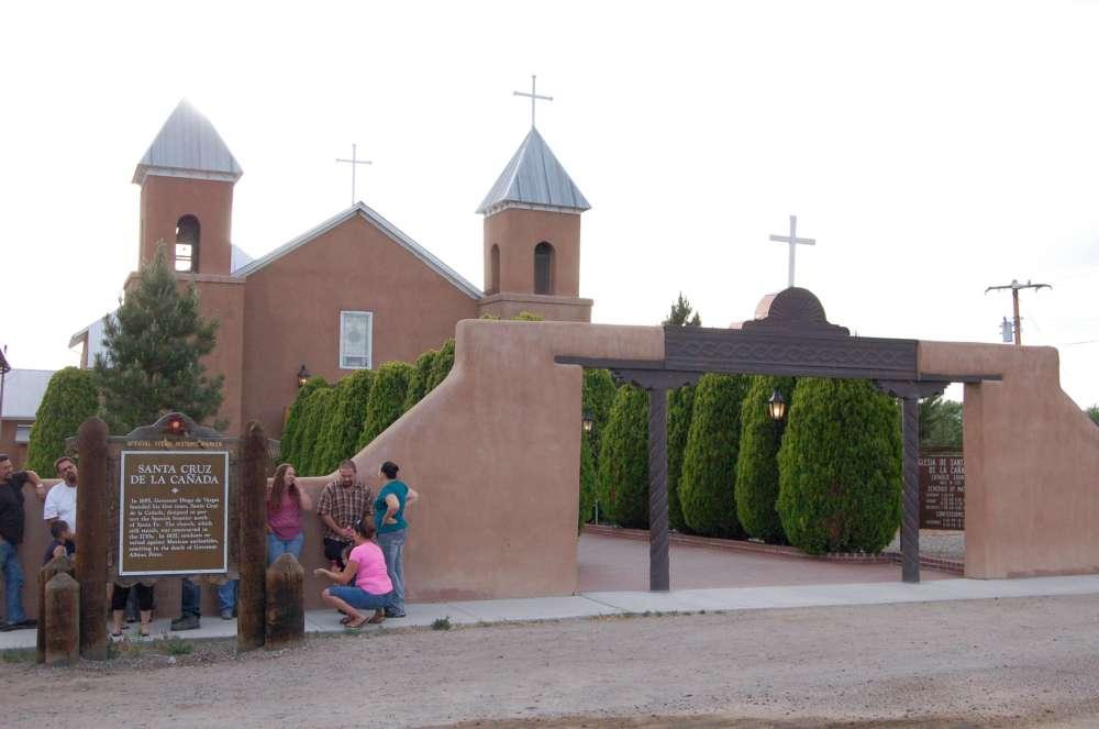 The Mission of Santa Cruz de la Canada, outside Santa Fe, founded 1695, current church built 1730s.