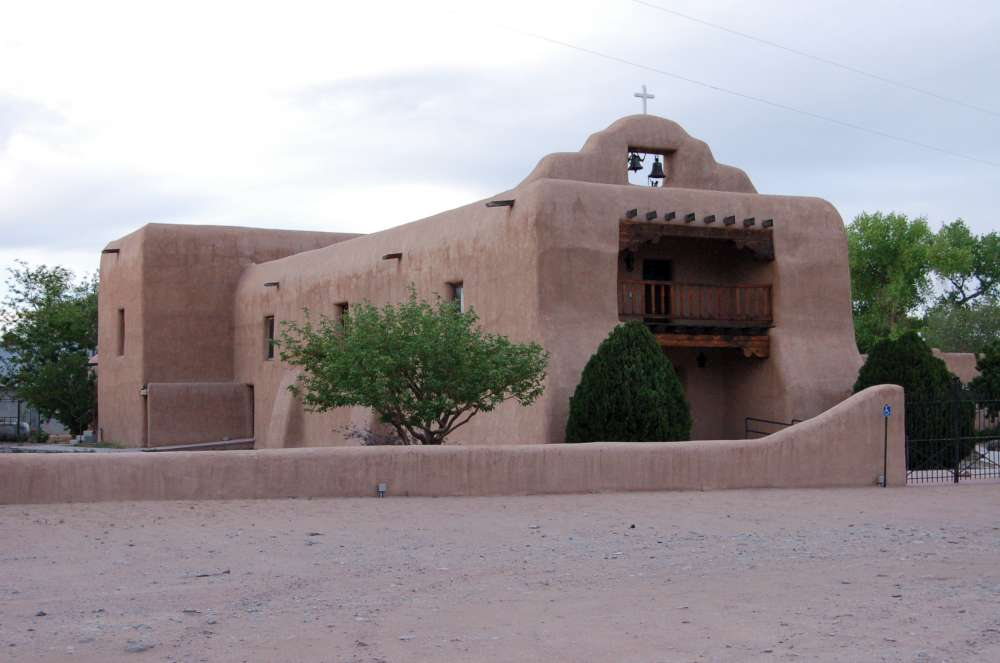 Another historic mission church, located nearby the monastery.