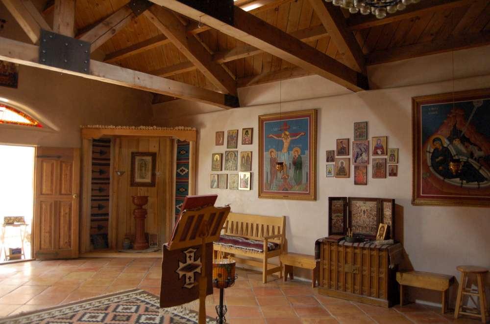 Inside the chapel at Saint Michael Orthodox Monastery