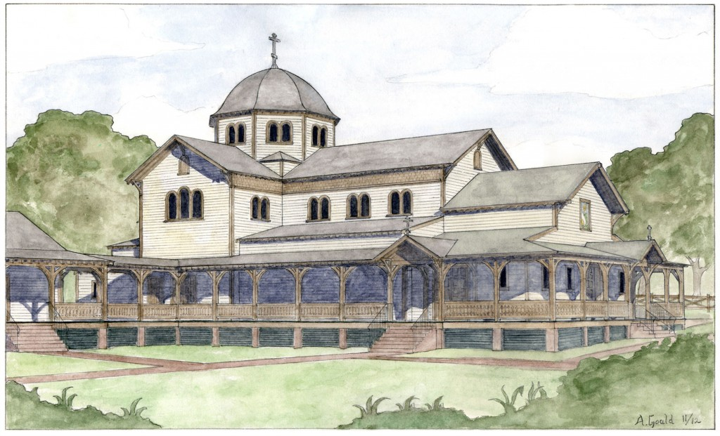 A new temple for St. John of the Ladder Orthodox Church, Greenville, SC. Designed by the Andrew Gould of New World Byzantine in association with Morris Architecture.
