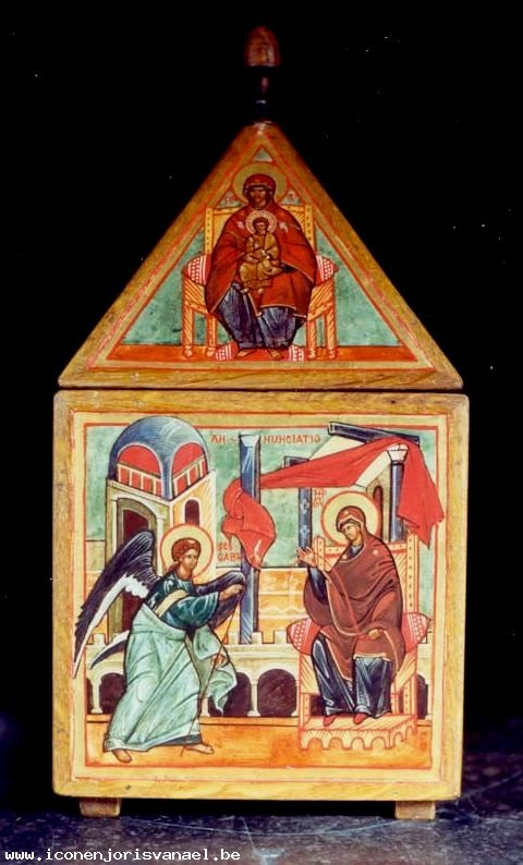 The Seat of Wisdom - Top, The Annunciation - Below