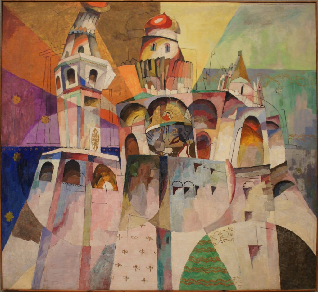 The 20th century brought fascination with abstraction and expression in painting. This 1915 painting of the Ivan the Great Bell Tower expresses the power of a great peal of bells. By Aristarkh Lentulov.