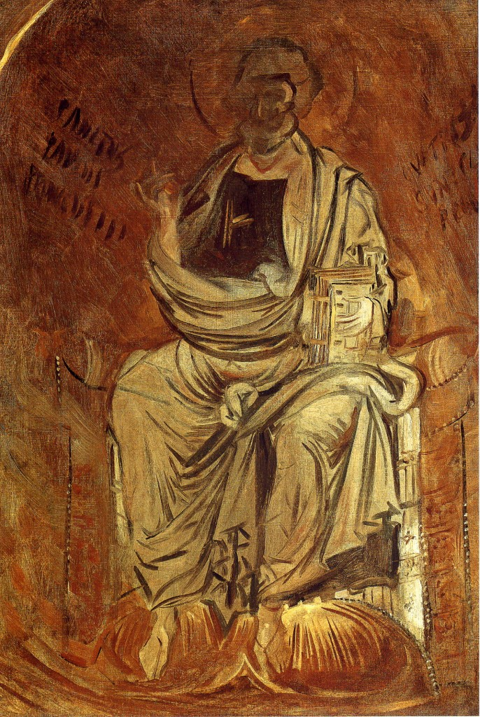Mosaic of Saint Peter in the Cathedral of Monreal, Sicily, by John Singer Sargent, 1897.