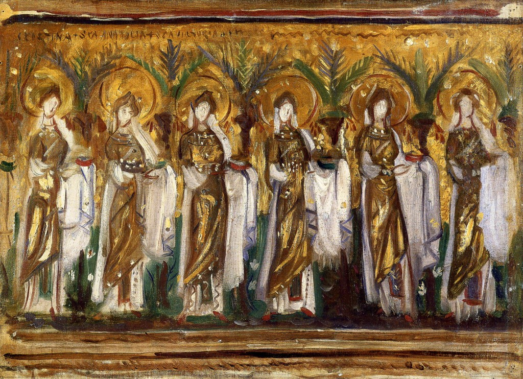 Mosaic in Sant'Apollinare Nuovo, Ravenna, by John Singer Sargent, 1898.