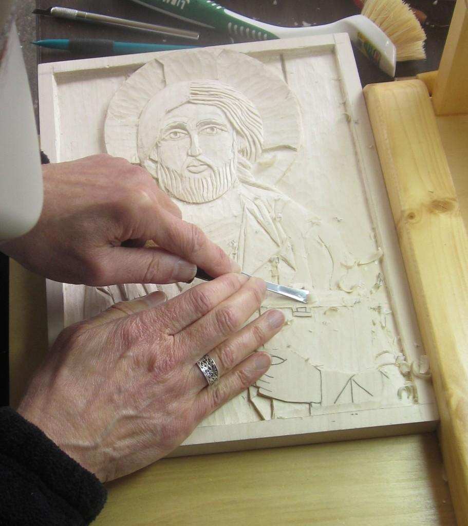 Lynne Attaway working.