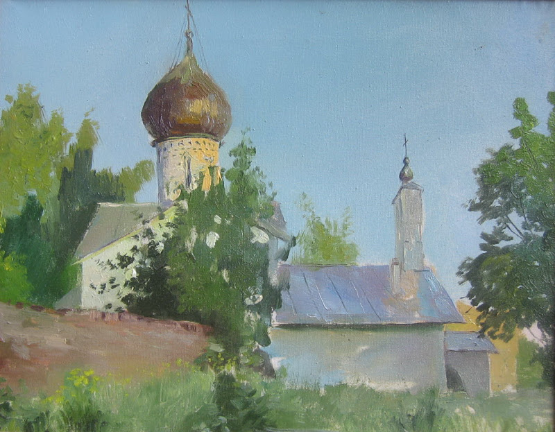 The tradition of Russian Impressionism continues to this day. This painting, was done recently by A. Osipov, a student at the Repin Institute in Russia.