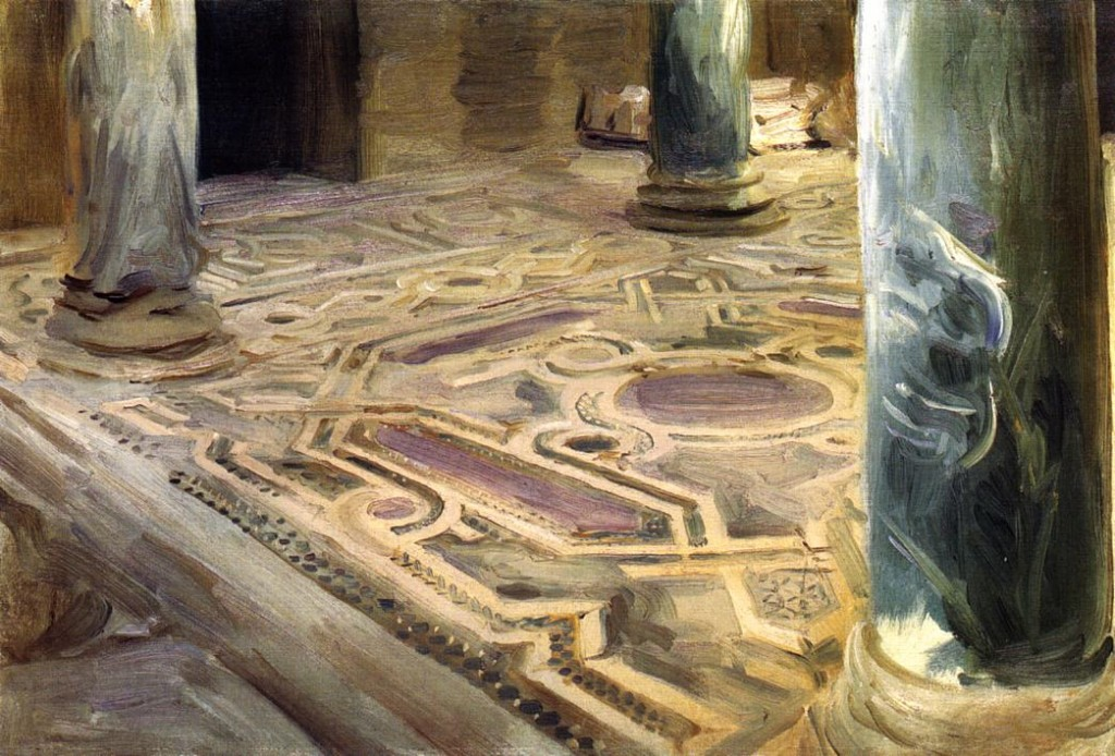 Pavement in the Church of San Cataldo, Palermo, Sicily, by John Singer Sargent, 1897