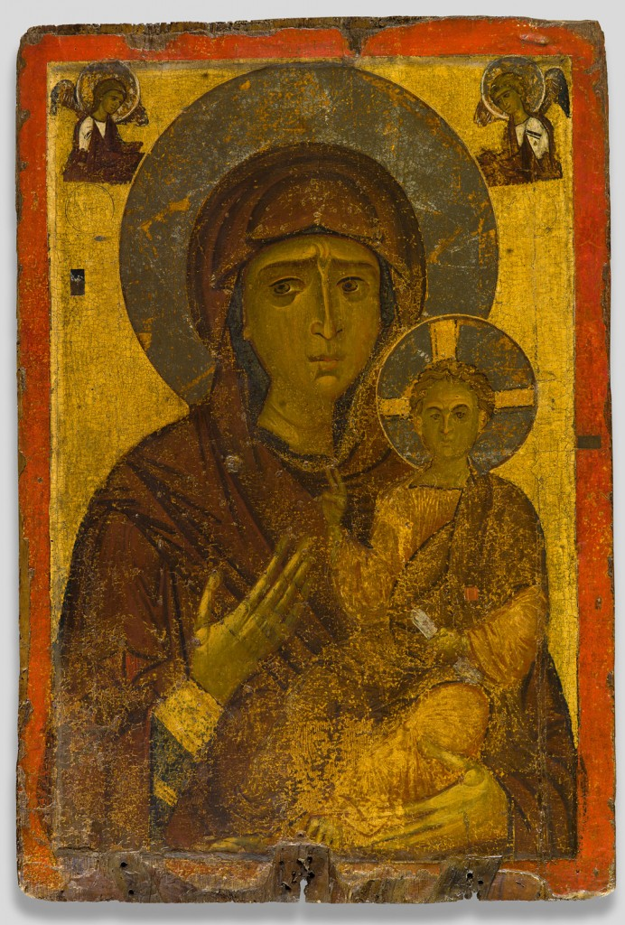 Reverse side of Processional icon of the Virgin Hodegetria (front) and the Man of Sorrows (back), last quarter of 12th century tempera and silver on wood overall size: 115 x 77.5 x 3.5 cm (45 1/4 x 30 1/2 x 1 3/8 in.) Byzantine Museum, Kastoria