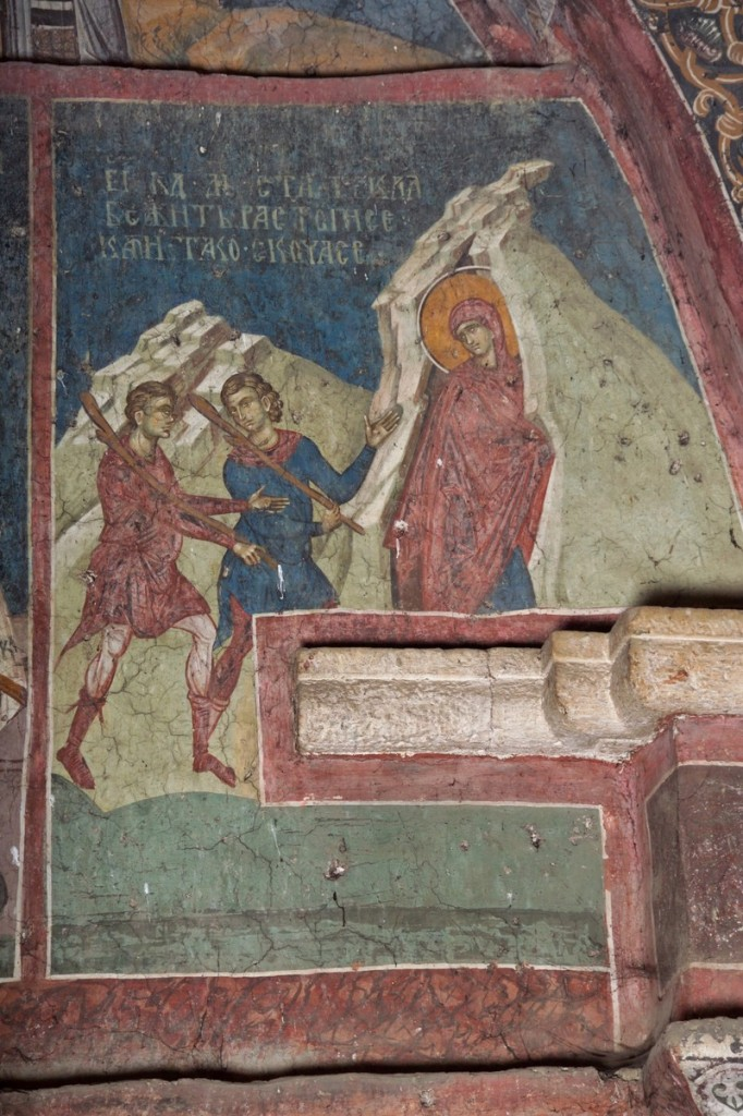 St-Thekla enters the cleft of the rock to flee her pursuers