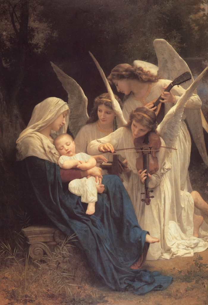 William Bouguereau, Song of the Angels, 1881. Oil on Canvas. Caption: Here we have the kind of academic painting seen by the avant-garde as vacuous naturalism.