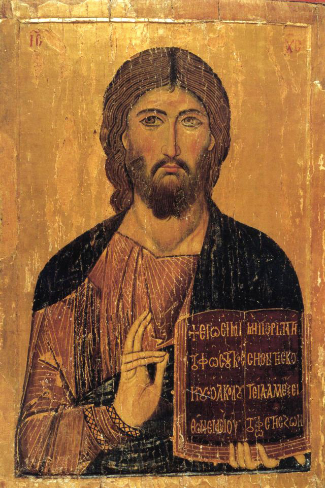 Christ Pantocrator, icon from Daphni, c. 1100