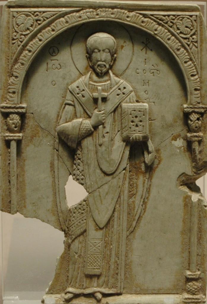 Steatite Icon of St-John Chrysostom from the Louvre