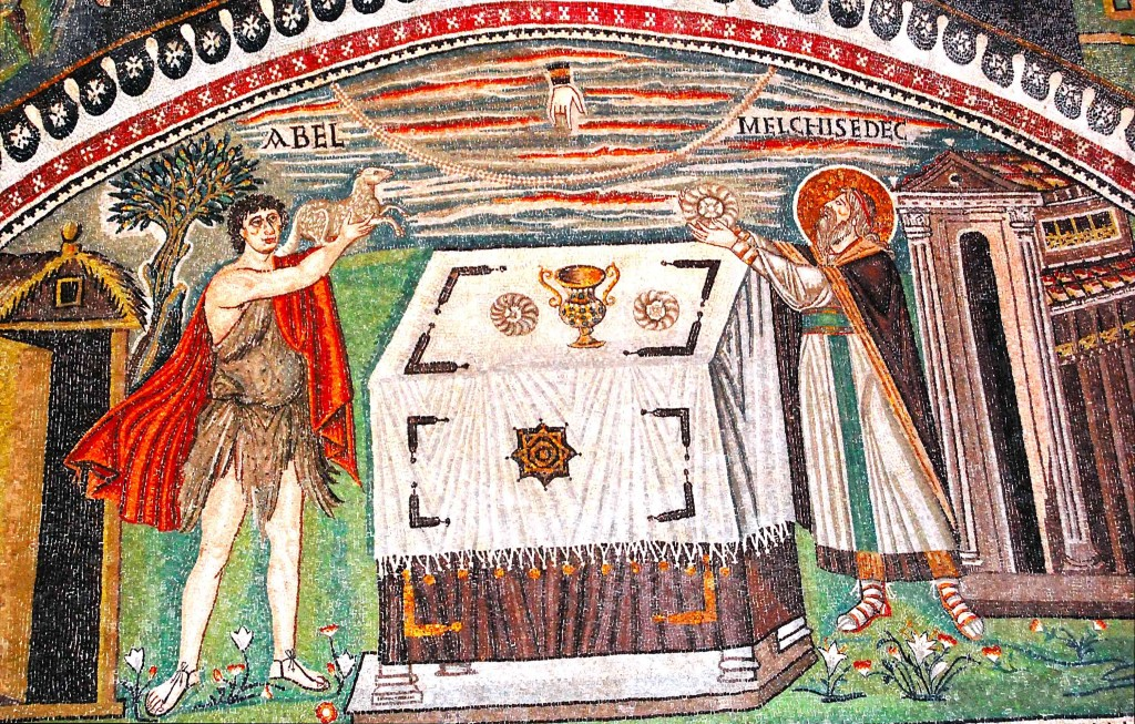 Abel and Melchizedek bringing their offerings to the altar. Basilica of St. Vitale, Ravenna, 538-545 AD. If the gift of art is not returned to the One from which it came, thereby no longer binding us to Him, it will cease to bring consolation, liberation, and blessedness.