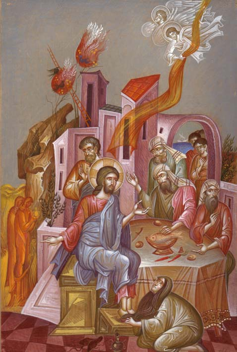 George Kordis, The Anointing of the Lord's Feet at Simon's House