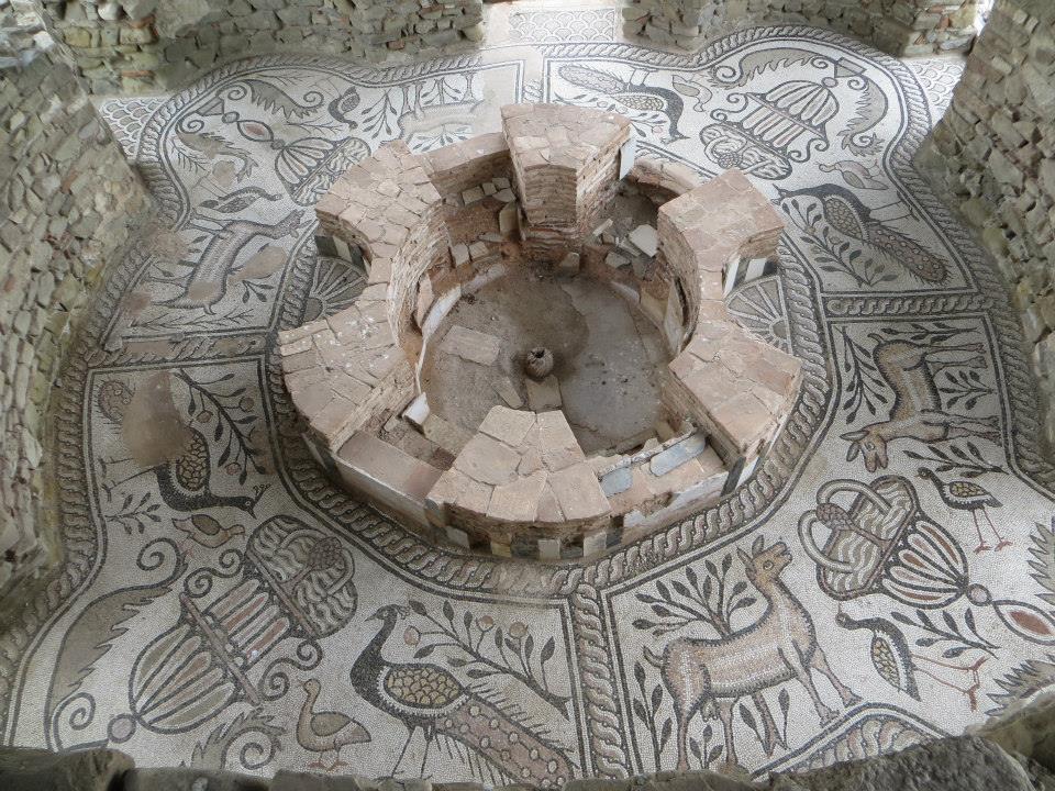 Stobi archeological site, 4th century baptistery
