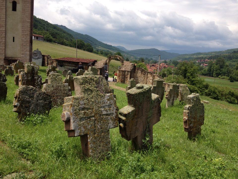 Graves  at Holy Apostles Peter and Paul, Novi Pazar, Serbia.