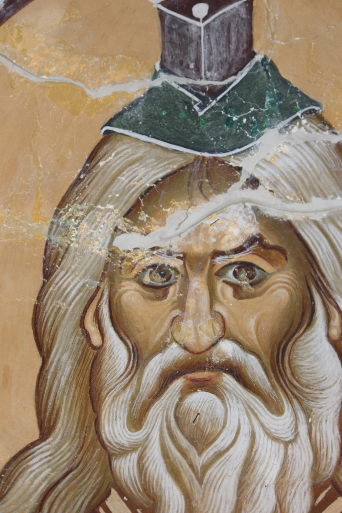 Righteous Abraham. Father of Nations: fresco from St. Nicolas monastery near Prilep, in the village of Manastir on Mariovo Mountain, Macedonia. Built in 1005 by Alexius, the cousin of the Emperor Alexius Comnenus.
