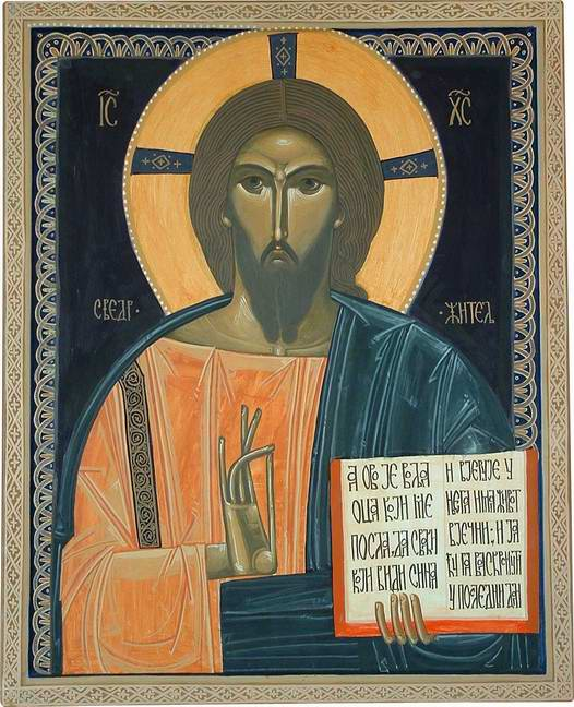 Todor Metrovic, Christ Pantocrator. Contemporary Icon.