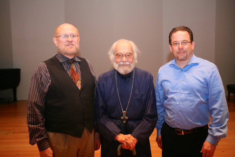 Peter Jermihov, Fr. Sergei Glagolev, and Kurt Sander