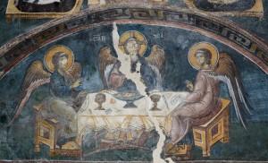 Fresco of the Holy Trinity, Pillars of St. George, Serbia 1282